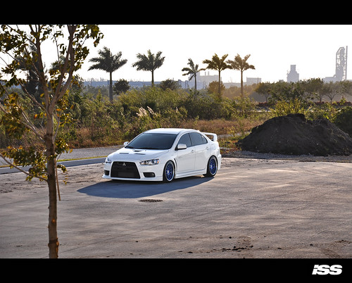 AMS EVO X Track car buildup IN white old opel car
