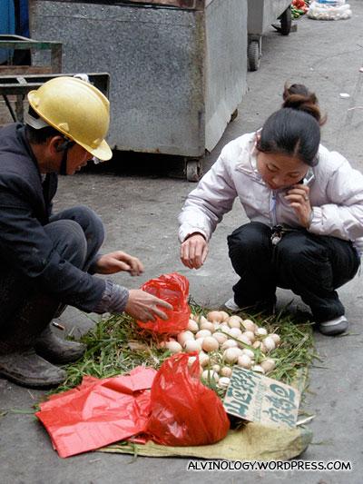 Home-farmed eggs