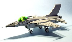F-16 (psiaki) Tags: airplane fighter lego aircraft jet wip f16 falcon fighting moc