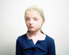 (andrew sea james) Tags: portrait color 120 film girl mediumformat child pentax kodak scanner fishnet wig epson 6x7 smc portra nylon 105mm f24 400vc v500 continouslight