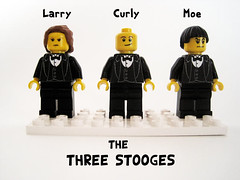 The Three Stooges (Hound Knight) Tags: movie three comedy lego curly larry moe custom stooges minfig