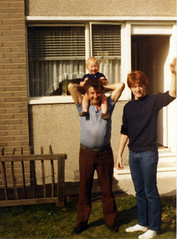 Image titled Robert Perry (Senior) His Son Robert Perry and Grandson Robert St George, Easterhouse 1984