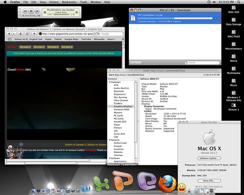 Motherboard Asus Striker II Formula Nforce 780i Video Card Palit 9800GT 512MB Dual Heat Pipe QE QL Enabled Memory 4 GB 1066mhz Team Xtreem Dark