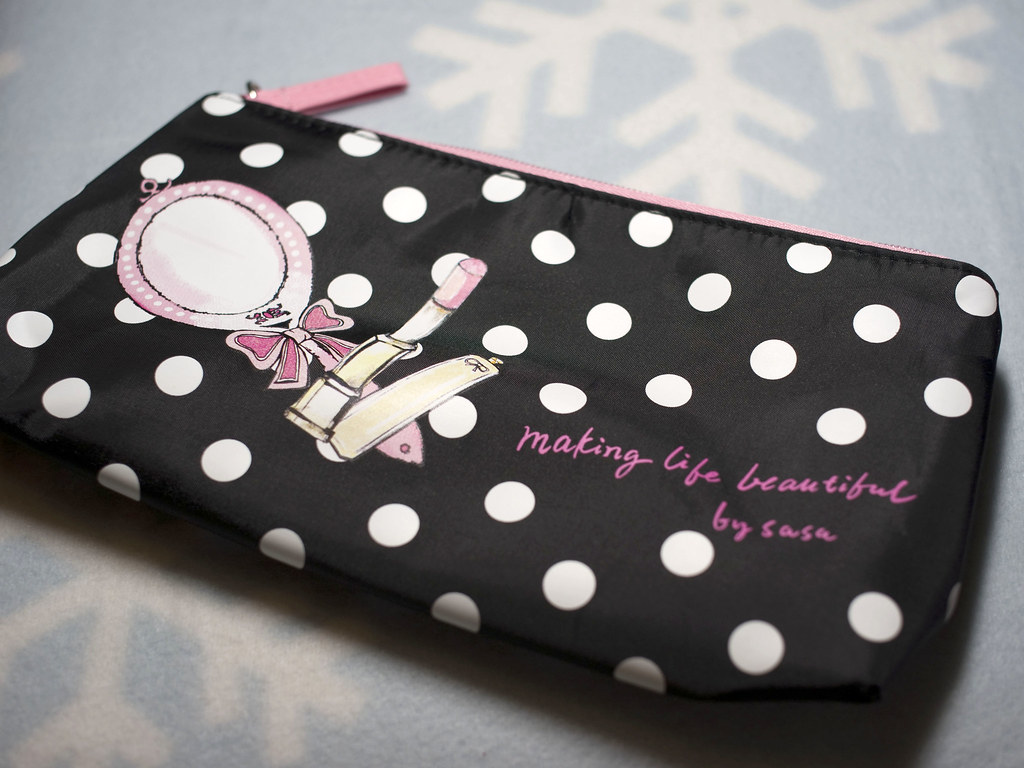 莎莎 sasa makeup bag