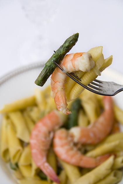 Garganelli gamberi e asparagi part