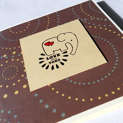 """Love You Tons"" Elephant Card (TooMuchOfAGoodThing) Tags: elephant handmade iloveyou etsy loveyoutons"