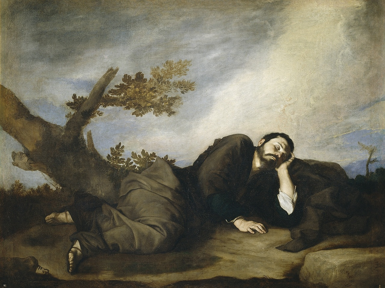 José de Ribera (Spanish, 1591-1652) El sueño de Jacob (1639) Oil on canvas. 179 by 233 cm. Museo Nacional del Prado, Madrid.