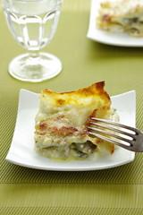 Lasagne carciofi, burrata e pecorino