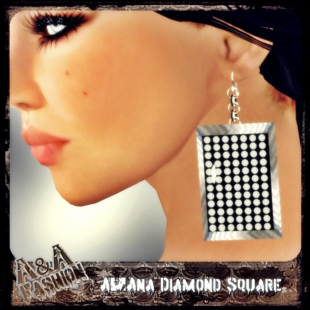 A&Ana Diamond Square Earrings
