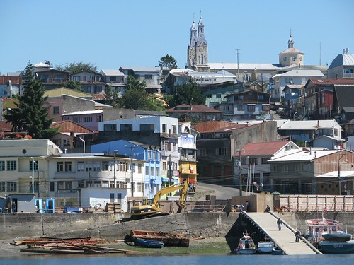 Castro wharf and church