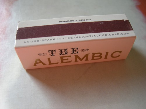 Packaging Whore: Alembic Matchbook