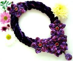 Sonata de Outono, cachecol-colar de crochê (Lidia Luz) Tags: scarf necklace handmade lace crochet jewelry bijoux bijuteria lariat colar neckwarmer bijouteria cachecol crochê lidialuz