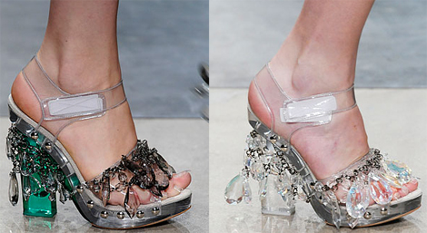 DIY chandellier heels by Prada 2