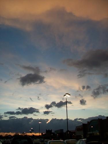 Minneapolis sky over the Quarry