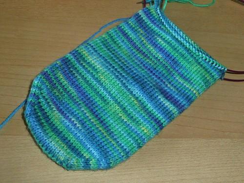 Spring Greenery Sock