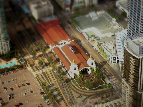 second tilt-shift test: Santa Fe Depot