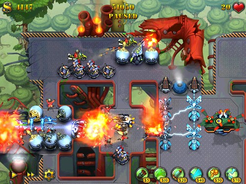 Screenshot Fieldrunners Skyway iPad