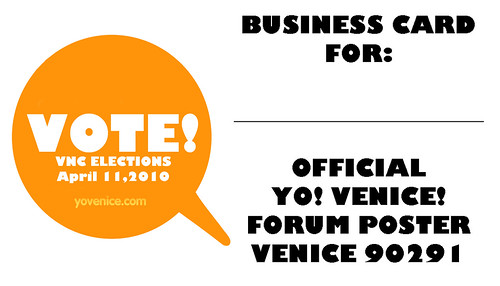 Yo Venice Business Card