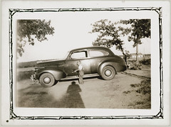 dog automobile child transportation foundphotograph runningboard ajo65