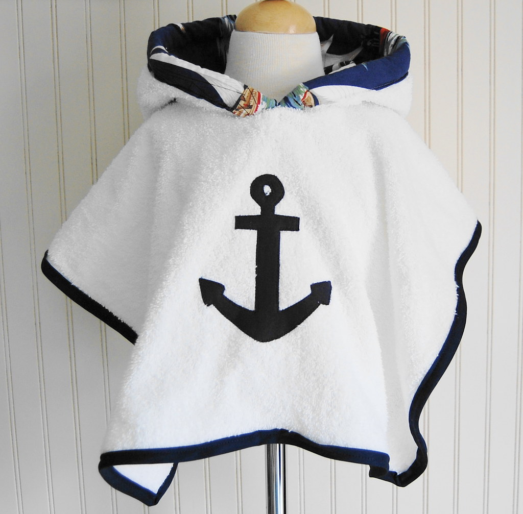 Anchors Away Beach and Pool Hooded Cover Up