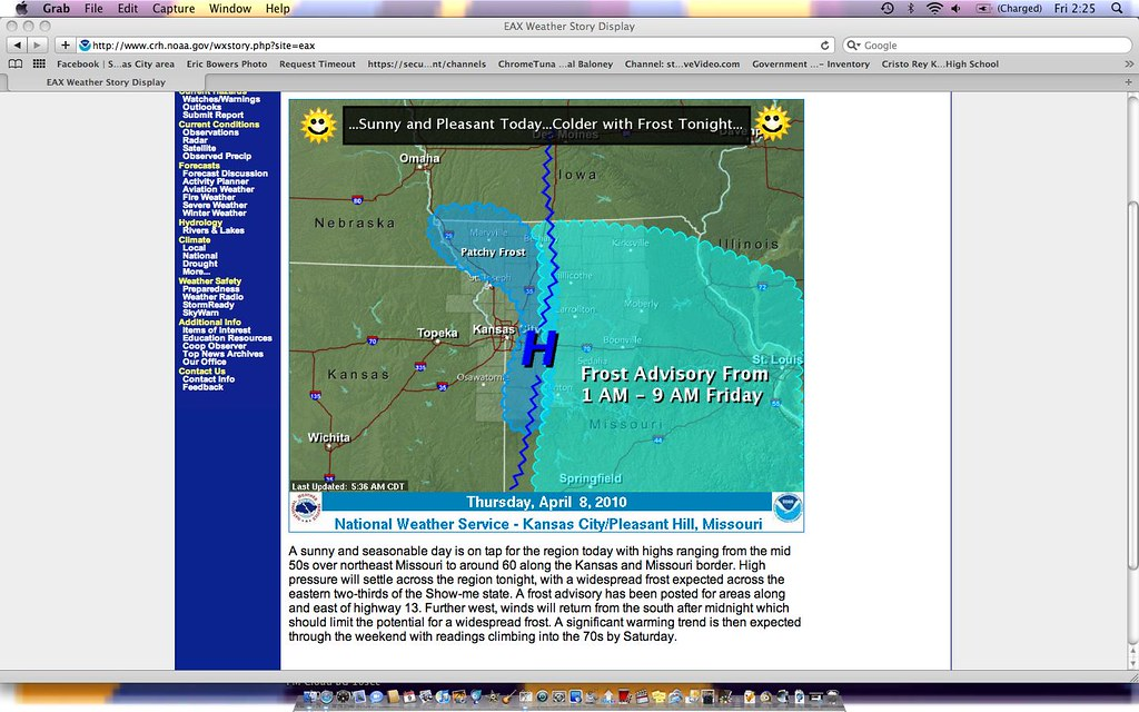 Weather Story Thu 8 Apr 2010