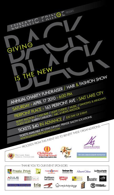 Lunatic Fringe annual fundraiser flyer