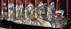 Much (Hear45) Tags: railroad minnesota train graffiti minneapolis mpls much spraypaint twincities hm mn freight aerosolart graffitiart 612 ibd fr8 freightart