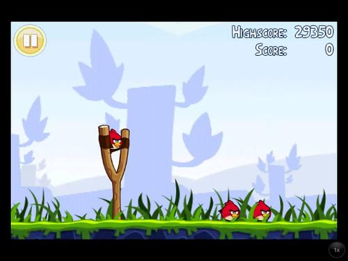 Angry Birds iPhone on iPad