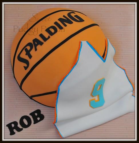 Spalding Basketball Cake