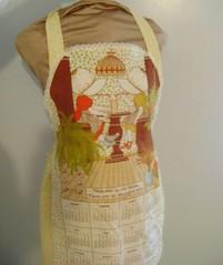Apron (HeidiGo Lightly) Tags: vintage apron nylon slips halfslip sexyhousewife