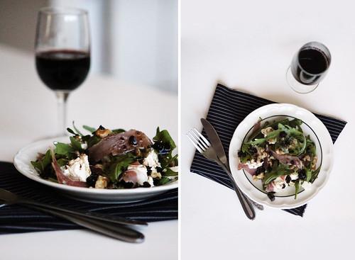 Ricotta, Prosciutto & Walnut Salad