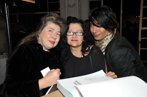 Angela Lassig, Liz Findlay (Zambesi – featured designer in 'New Zealand Fashion Design') and Colin Mathura-Jefree