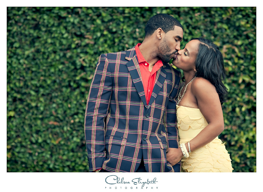 Los Angeles vintage wedding photography yellow dress and blue plaid jacket, red shirt