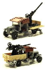 WWI anti aircraft (psiaki) Tags: truck gun lego aircraft wwi anti moc