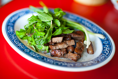 Grilled tongue at Khambang Lao Food Restaurant, Vientiane, Laos