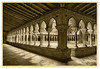 Cloister of the Saint-Pierre Abbey, Moissac (sminky_pinky100 (In and Out)) Tags: travel france heritage tourism abbey architecture vintage europe pretty scenic aged cloisters actions moissac omot saintpierreabbey