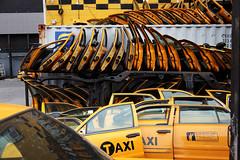 Hokusai's Taxi Door Wave (jamie nyc) Tags: nyc newyorkcity taxi gothamist taxicabs autobodyshop cabbies cardoors yellowcabs bushwickbrooklyn taxigraveyard photobyjimkiernan easterndistrictgallery edclan thisphotosecretlyhopestobeawilliamegglestonwhenitgrowsup taxiboneyard onthewaytophillyforaphotoshoot somepeoplelookatthisandthinkofhokusai thosepeoplearelikelyderanged thisisprobablylikearorscachtestforcrazyphotographers hokusaistaxidoorwave urbanhokusaiwaves nohjcoleyhasnospacesinit