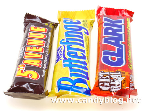The Peanut Crunch Bars: 5th Avenue, Butterfinger & Clark