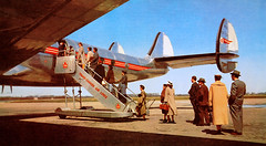 Connie (Lee Sutton) Tags: travel 1955 lines air canadian trans lockheed brochure constellation
