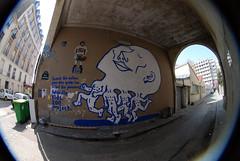 zoo project for belleville kids (lepublicnme) Tags: streetart paris france graffiti fisheye april 2010 peleng zooproject