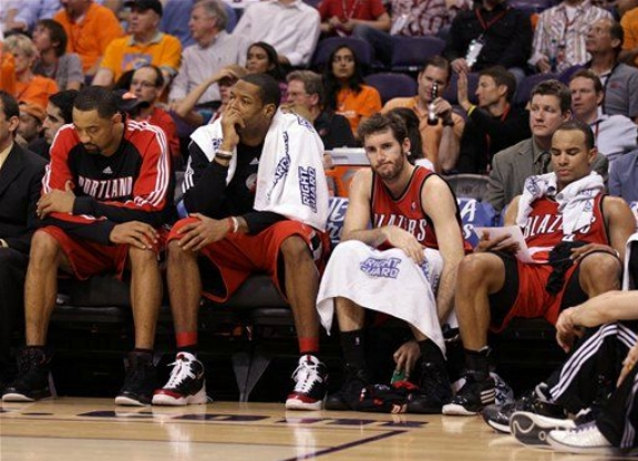 Sad Blazers bench