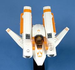 Firefox Star Racer - 06 (Happy Weasel) Tags: orange firefox lego space racer moc