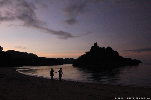 Slow shutter sunset (digital noise infested)