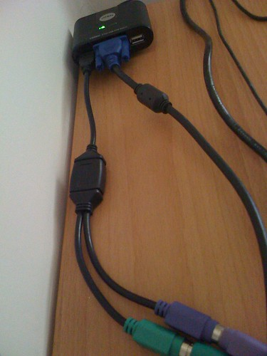 USB KVM Switch + USB -> PS/2