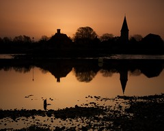 Chichester Harbour (Duncan George) Tags: uk england reflection church water silhouette reflections landscape gold landscapes bosham nikon raw westsussex silhouettes lowtide fx hamlet saxonchurch chichesterharbour holytrinitychurch chidham d700 saariysqualitypictures boshamquay