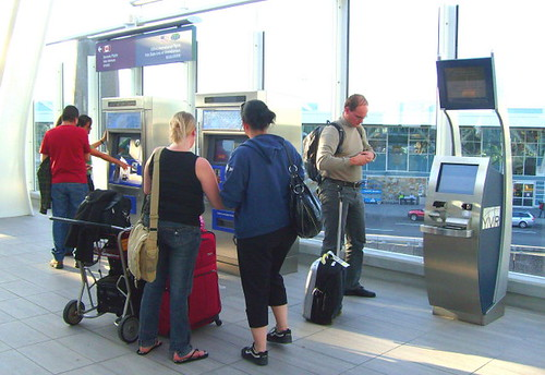 At the Canada Line YVR International Airport station, you can do airflight check-in and purchase transit tickets to Vancouver