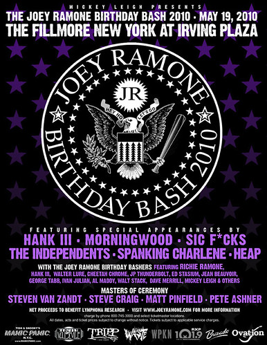 05/19/10 Joey Ramone Birthday Bash @ NYC, NY (Flyer)