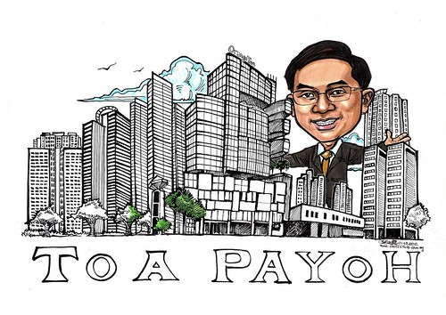 Toa Payoh Property agent Eric caricature A3