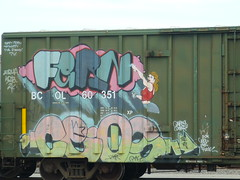 FERN (lippert61) Tags: fern graffiti paint streaks pasco railart monikers corkscrewjohnny humpyard