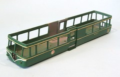 Varnished railbus body